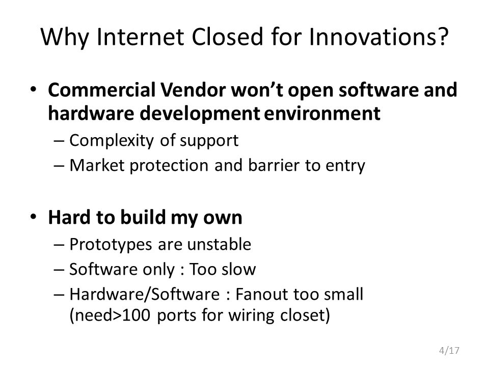Why Internet Closed for Innovations.