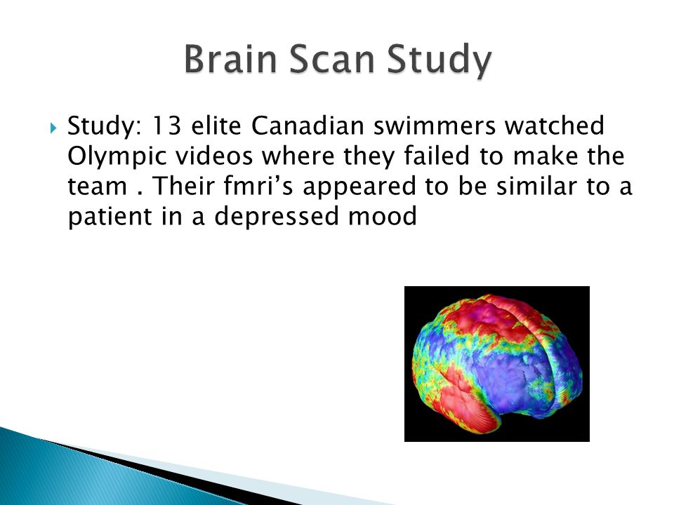  Study: 13 elite Canadian swimmers watched Olympic videos where they failed to make the team.