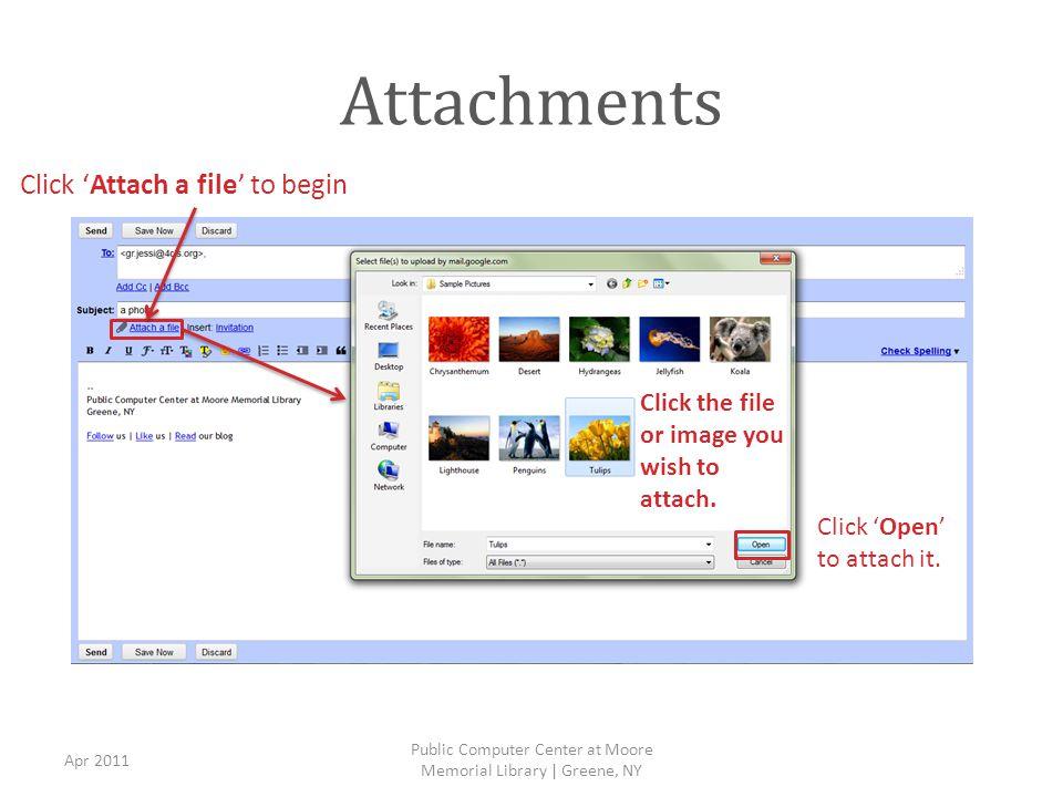 Attachments (cont.) Apr 2011 Public Computer Center at Moore Memorial Library | Greene, NY 1.