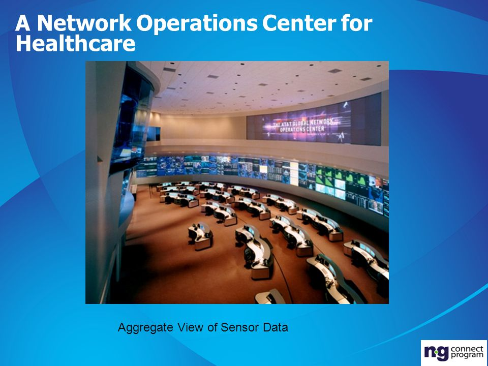 A Network Operations Center for Healthcare Aggregate View of Sensor Data