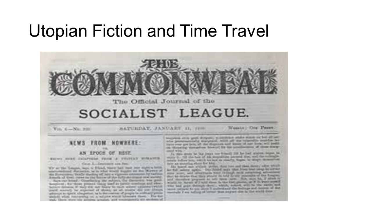 Utopian Fiction and Time Travel