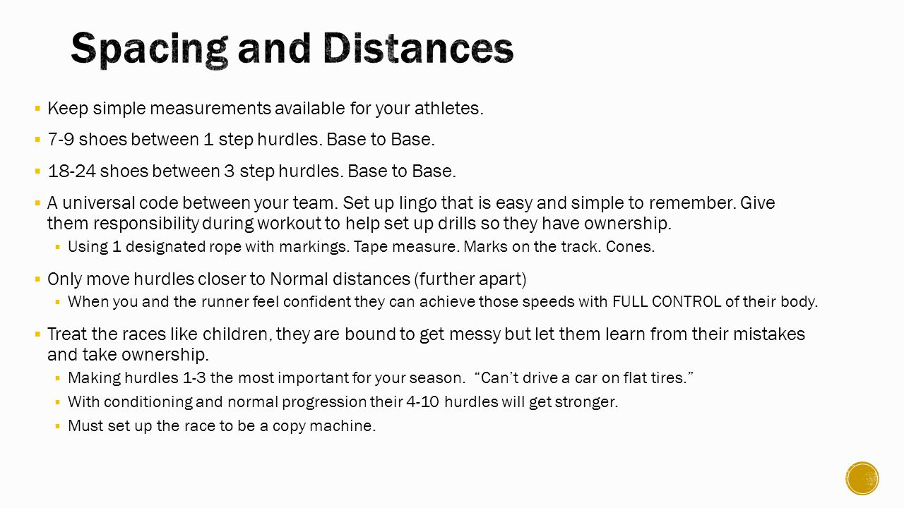  Keep simple measurements available for your athletes.