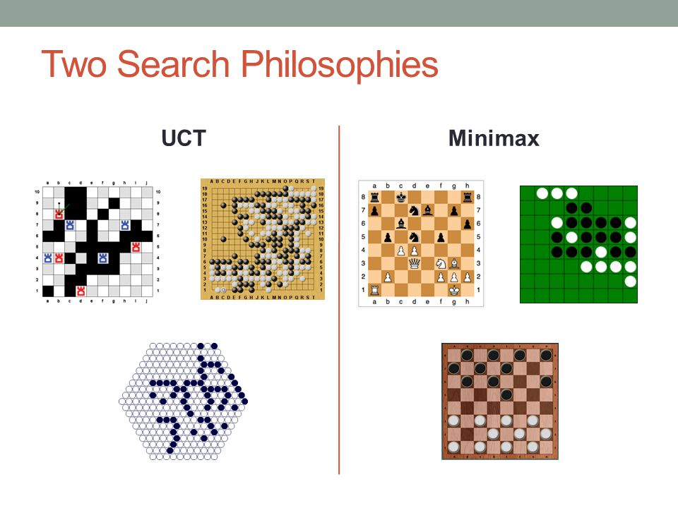 Two Search Philosophies UCTMinimax