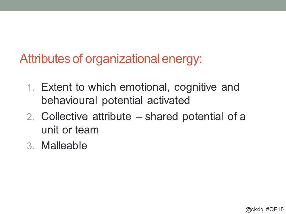 @ck4q #QF15 Attributes of organizational energy: 1.