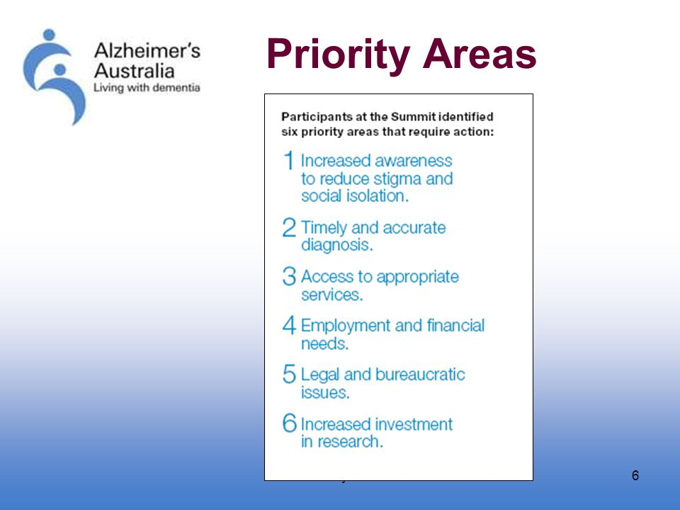 January 20066 Priority Areas