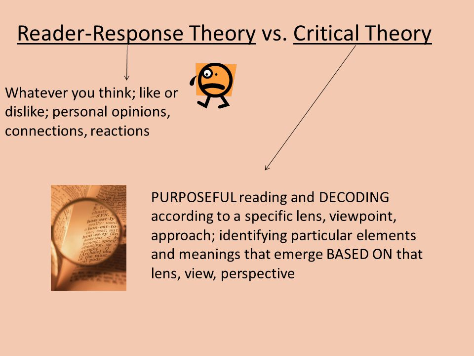 Reader-Response Theory vs.