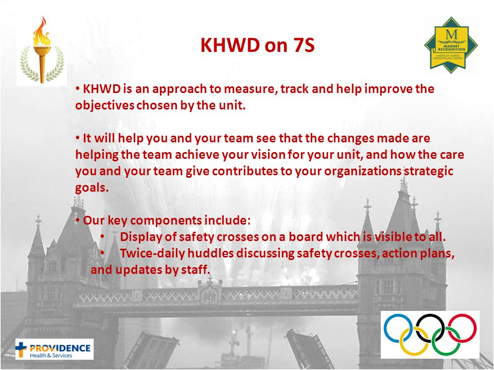 KHWD is an approach to measure, track and help improve the objectives chosen by the unit.