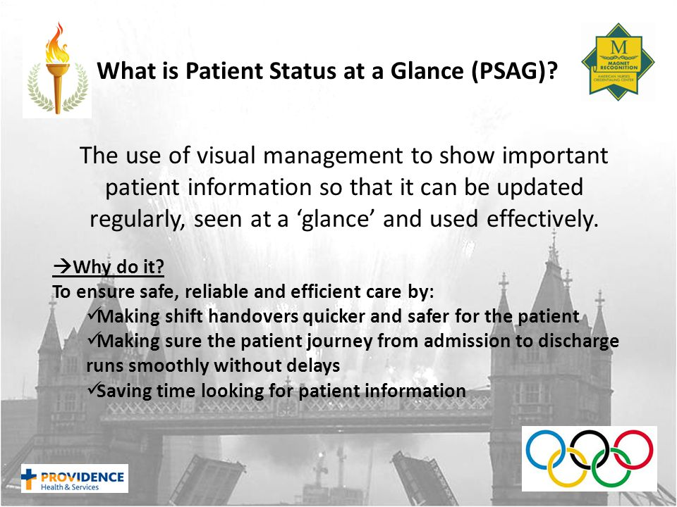 What is Patient Status at a Glance (PSAG).