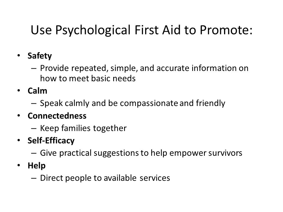 Psychological First Aid in Radiation Disaster Training Multimedia training product (approx.