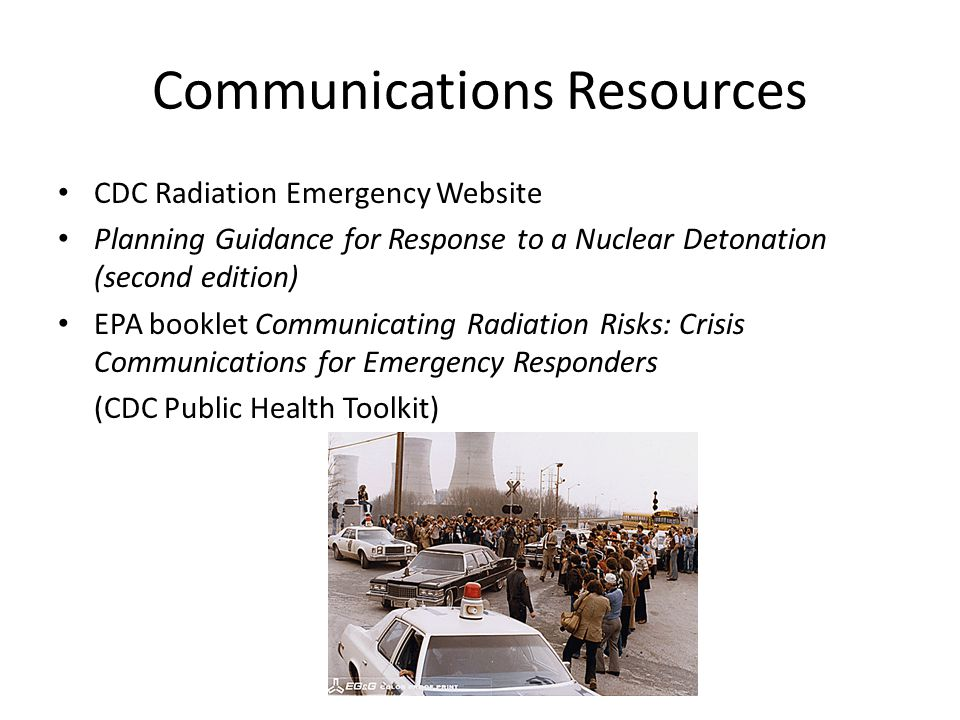 Radiological Terrorism: A Toolkit for Emergency Services Clinicians Resources for Clinicians: – JIT Training – Pocket Guides – Radiation Triage Chart – Fact Sheets – Webcasts – Self-study Training – Psych First Aid