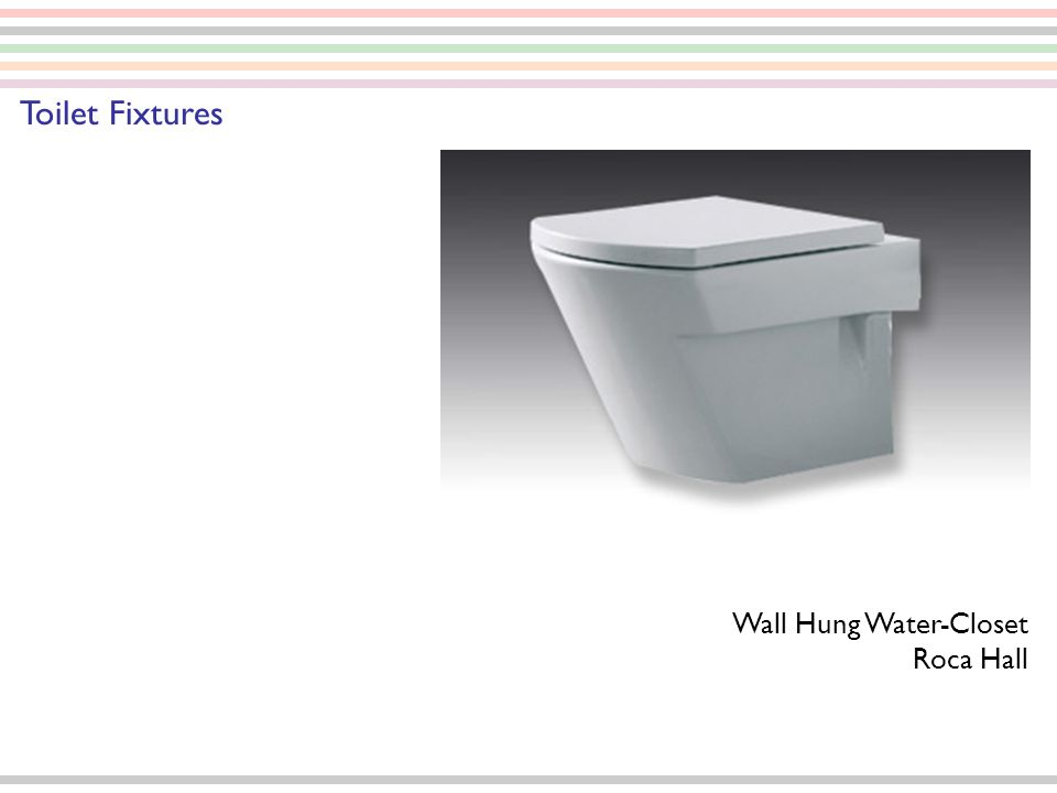 Wall Hung Water-Closet Roca Hall Toilet Fixtures