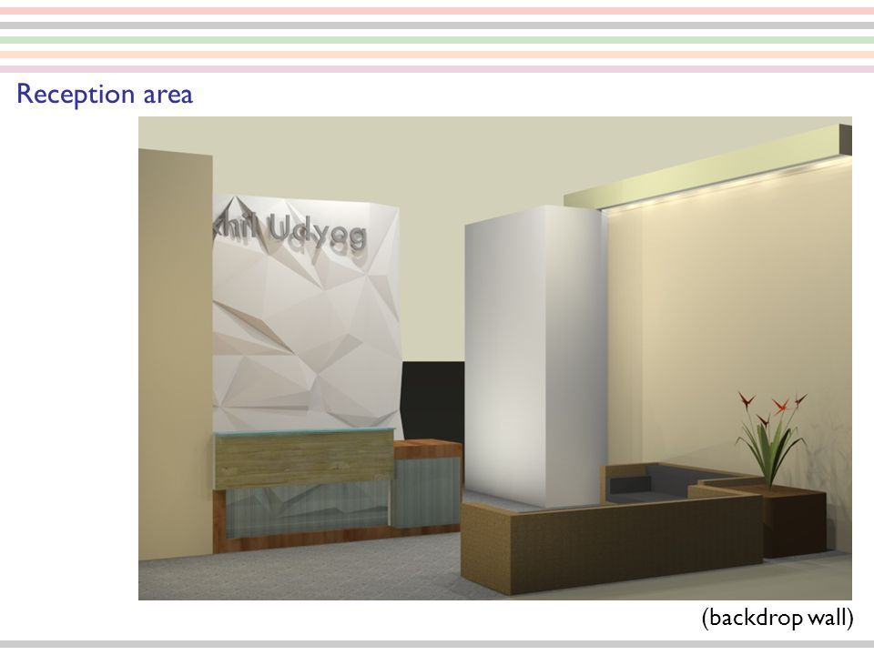 Reception area (backdrop wall)