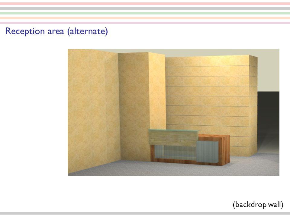 Reception area (alternate) (backdrop wall)