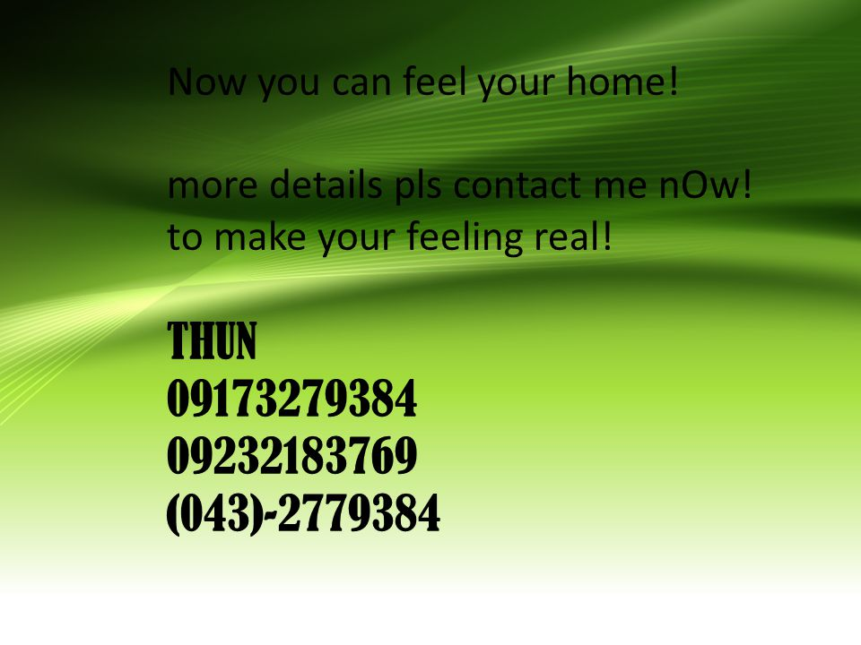 Now you can feel your home. more details pls contact me nOw.