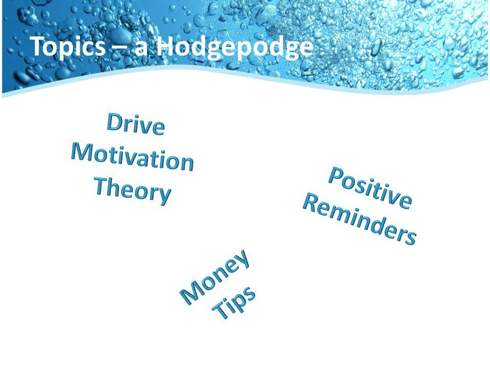 Topics – A Hodgepodge Topics – a Hodgepodge
