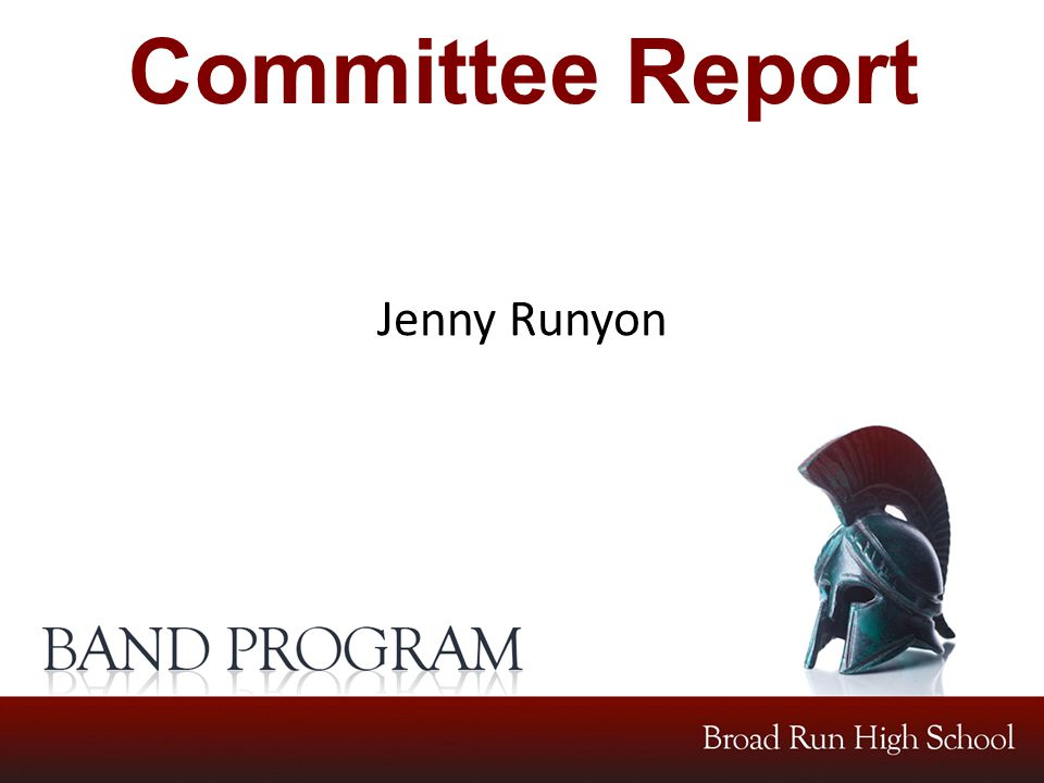 Committee Report Jenny Runyon