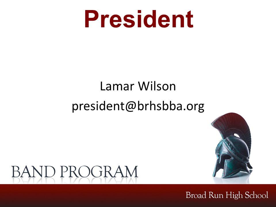 President Lamar Wilson president@brhsbba.org