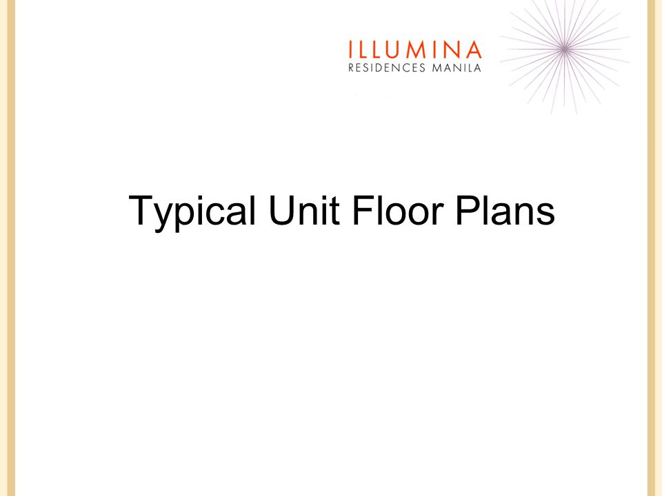 Typical Unit Floor Plans