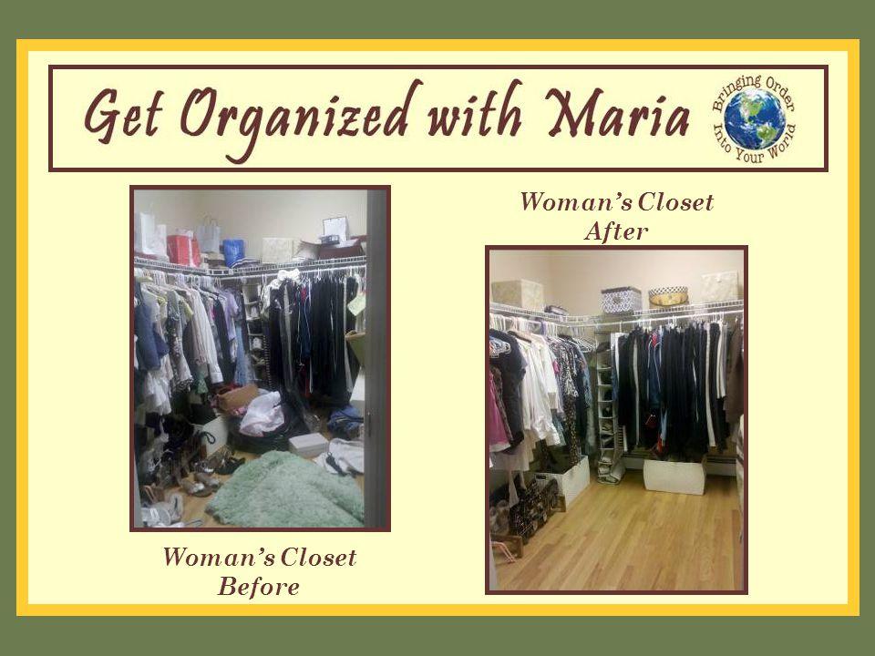 Woman's Closet Before Woman's Closet After