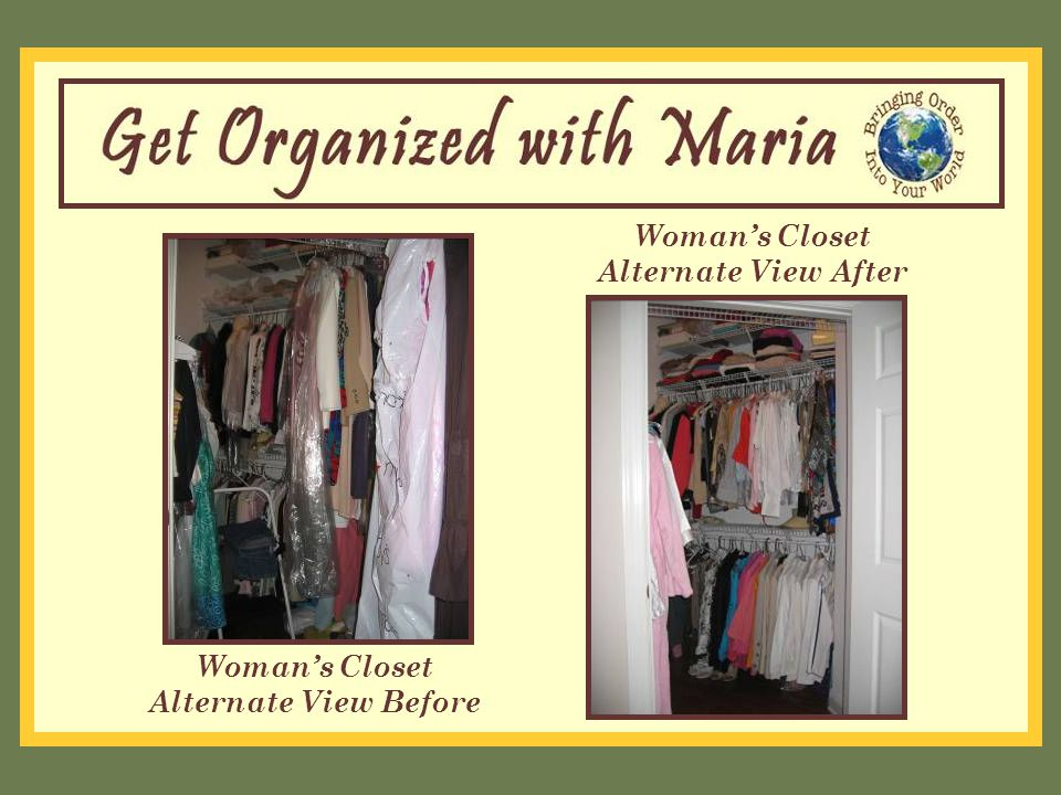 Woman's Closet Alternate View Before Woman's Closet Alternate View After