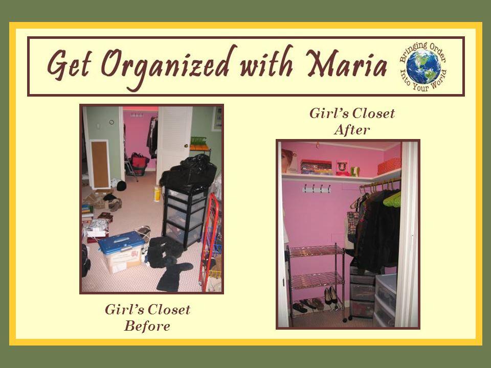 Girl's Closet Before Girl's Closet After