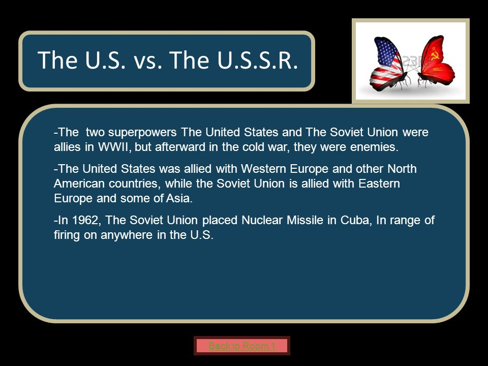 Name of Museum -The two superpowers The United States and The Soviet Union were allies in WWII, but afterward in the cold war, they were enemies.