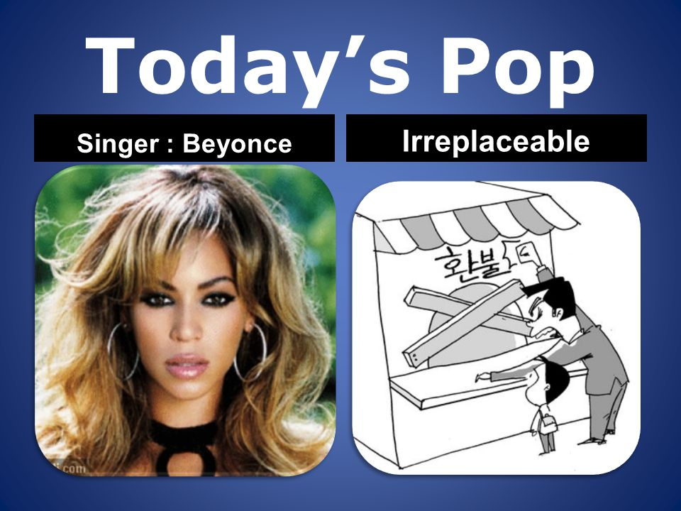 Today's Pop Singer : Beyonce Irreplaceable