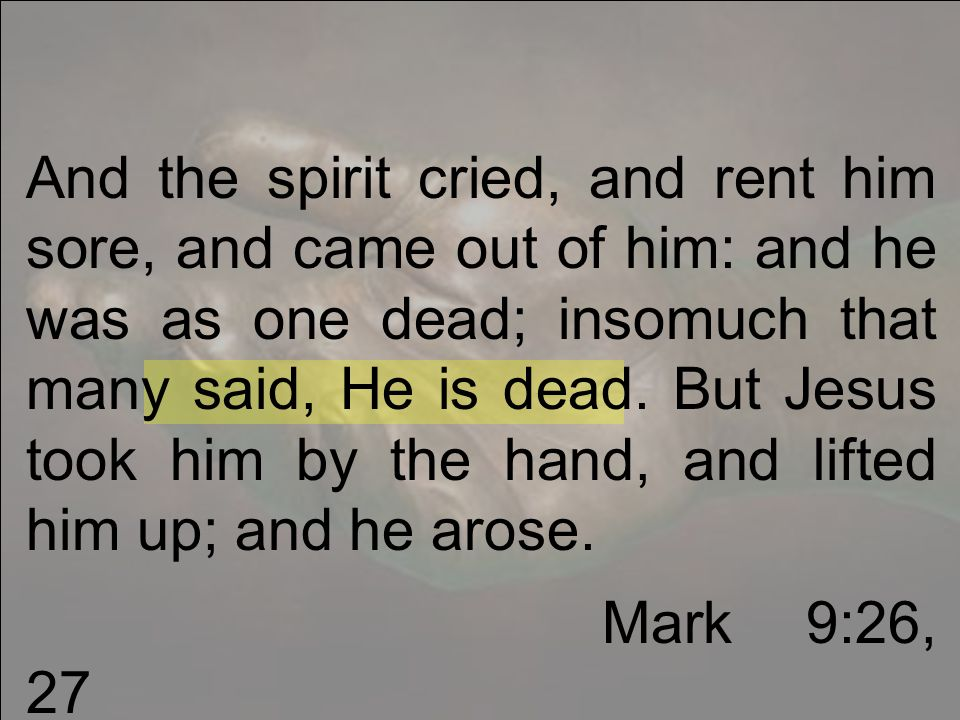 And when I saw him, I fell at his feet as dead.