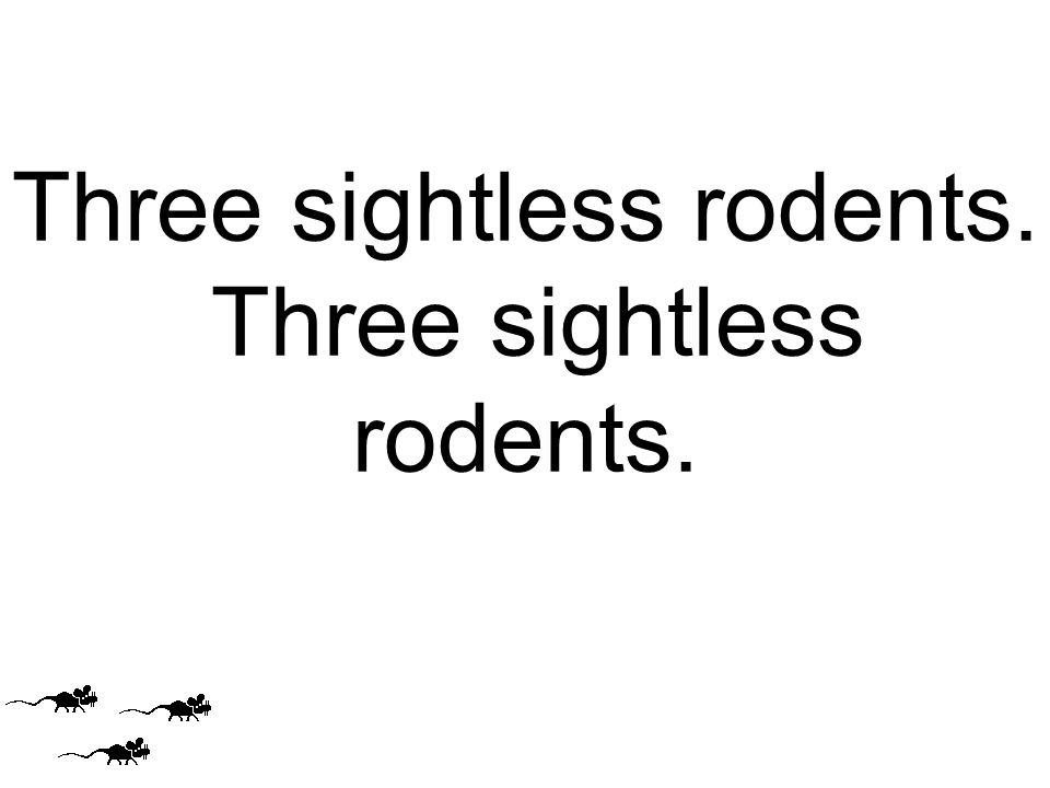 Three sightless rodents.