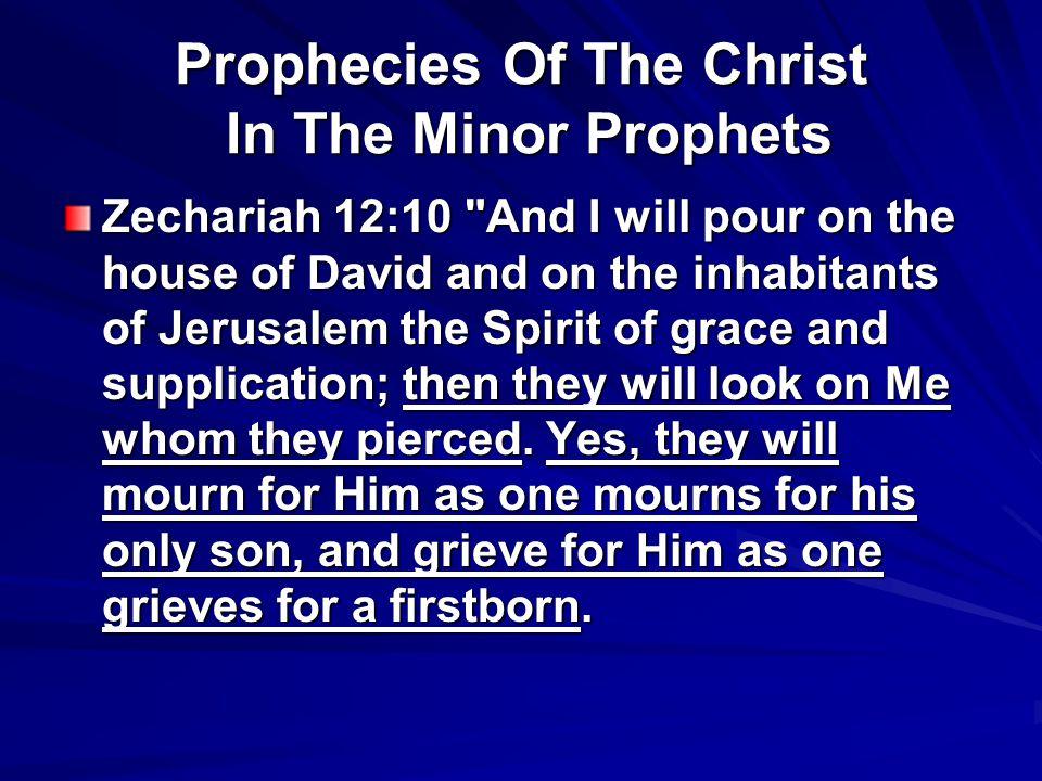 Prophecies Of The Christ In The Minor Prophets Zechariah 12:10
