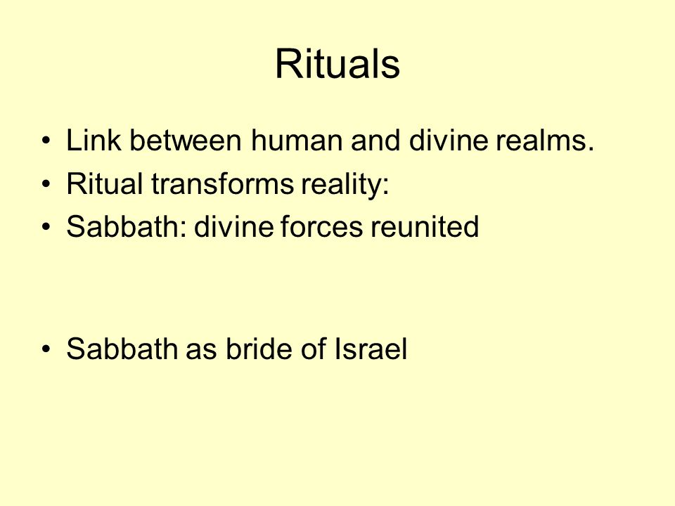 Rituals Link between human and divine realms.