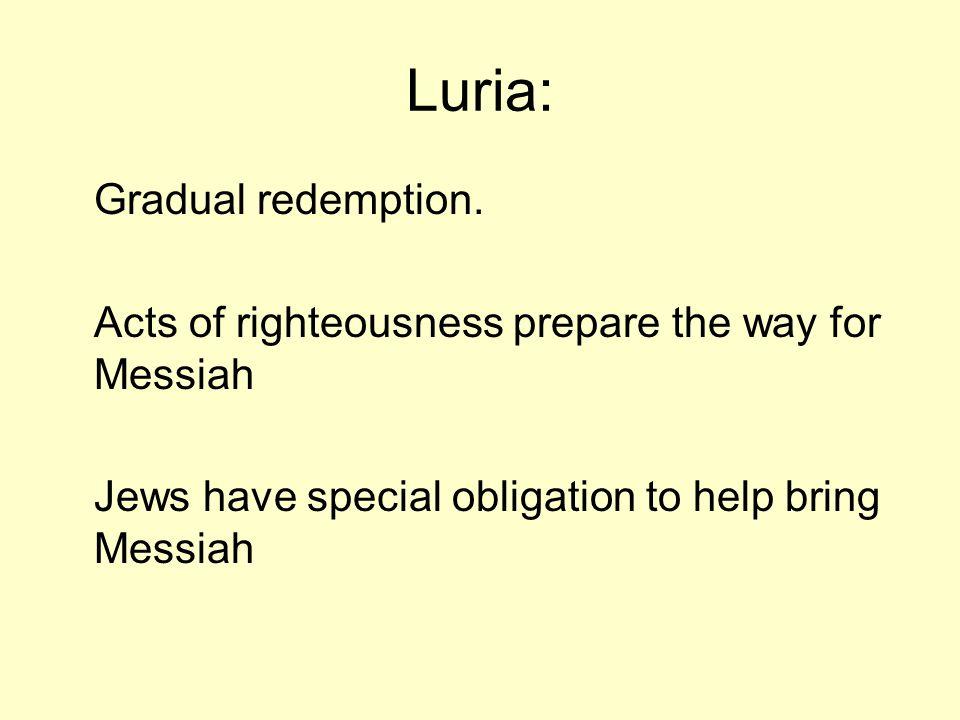 Luria: Gradual redemption.