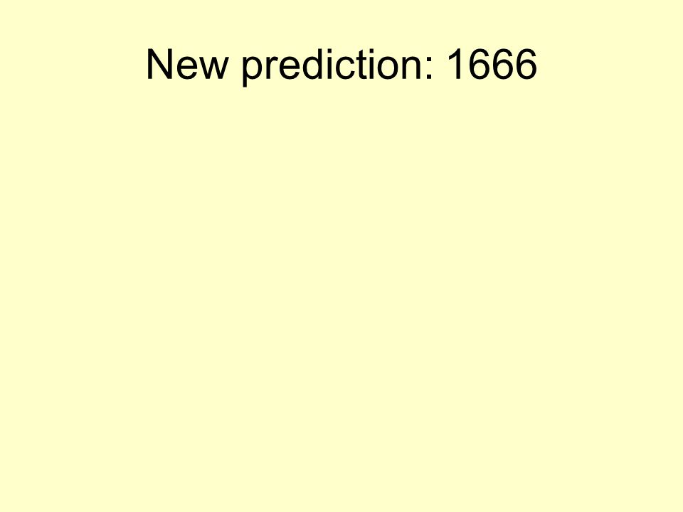 New prediction: 1666