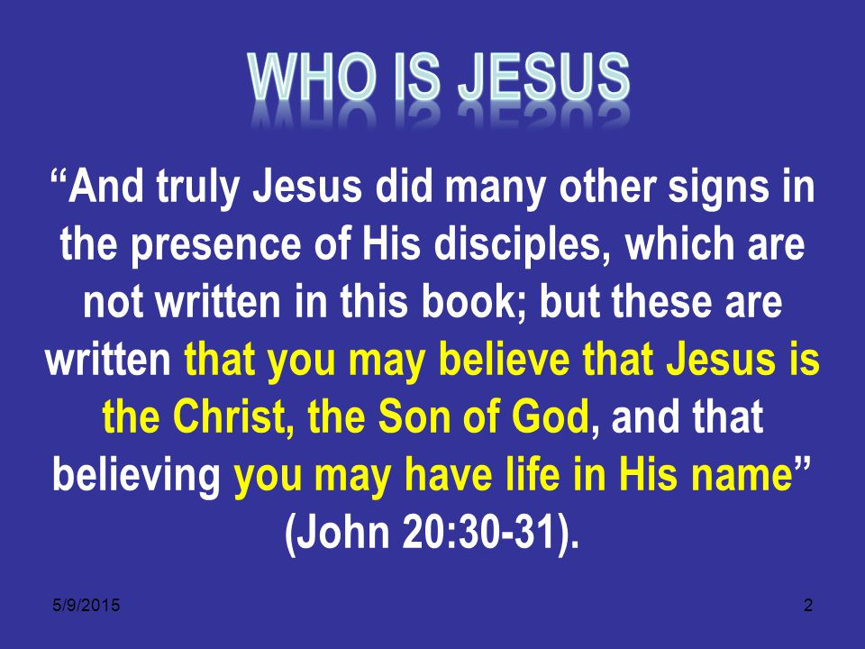 5/9/201523 Jesus Spirit was in all the prophets 1 Peter 1:11 Searching what, or what manner of time the Spirit of Christ which was in them did signify, when it testified beforehand the sufferings of Christ, and the glory that should follow.