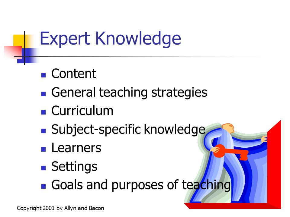 Copyright 2001 by Allyn and Bacon Connect and Extend Describe the most effective teacher you ever had.