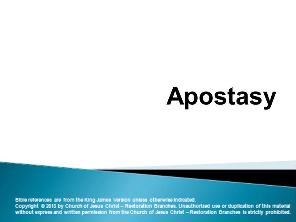 1 Apostasy