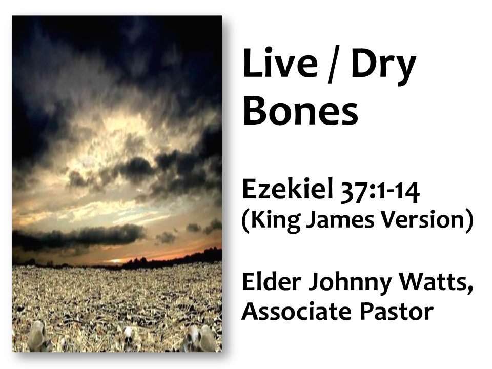 Live / Dry Bones Ezekiel 37:1-14 (King James Version) Elder Johnny Watts, Associate Pastor