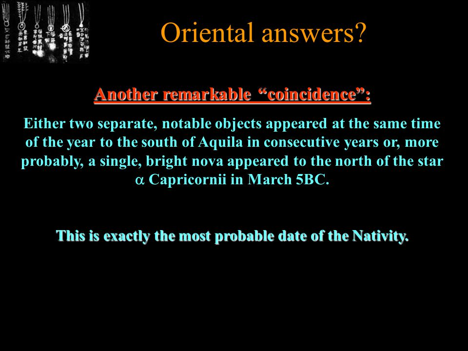 Oriental answers.