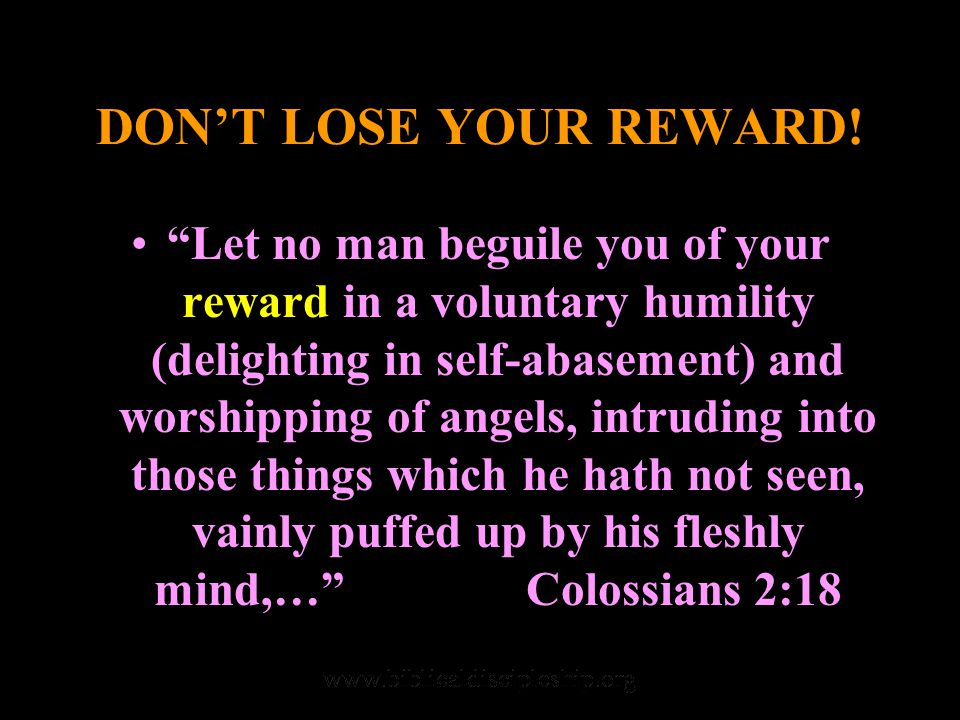 DON'T LOSE YOUR REWARD.