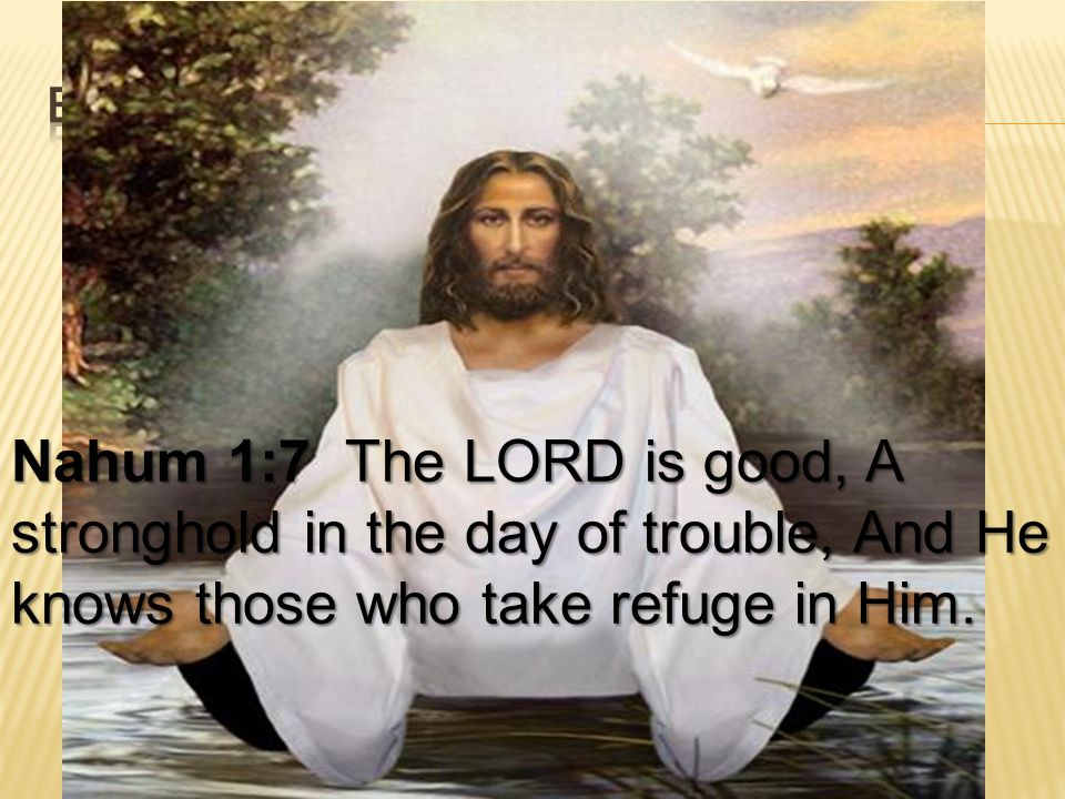 Nahum 1:7 The LORD is good, A stronghold in the day of trouble, And He knows those who take refuge in Him.