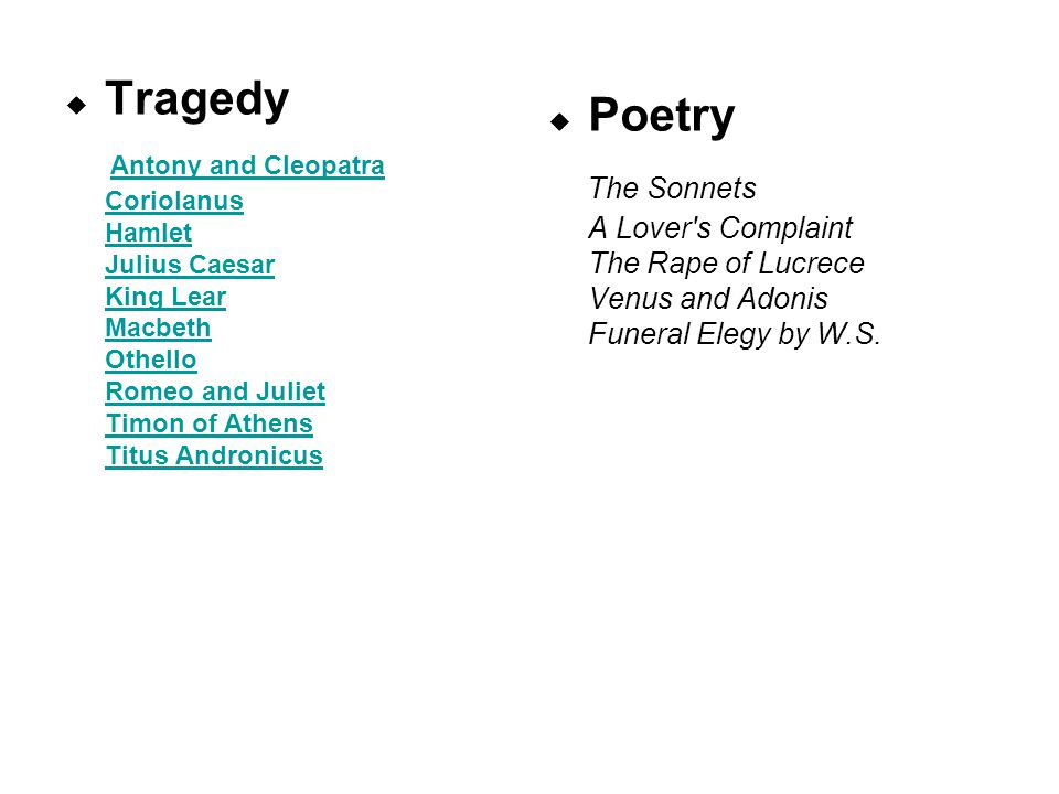 Outline Plot overview Rhyme Pursue & Response Debate Courting sonnet J's characters Romantic love