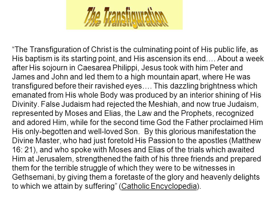 Peter, James, and John A.Verse 1. Father's response A.