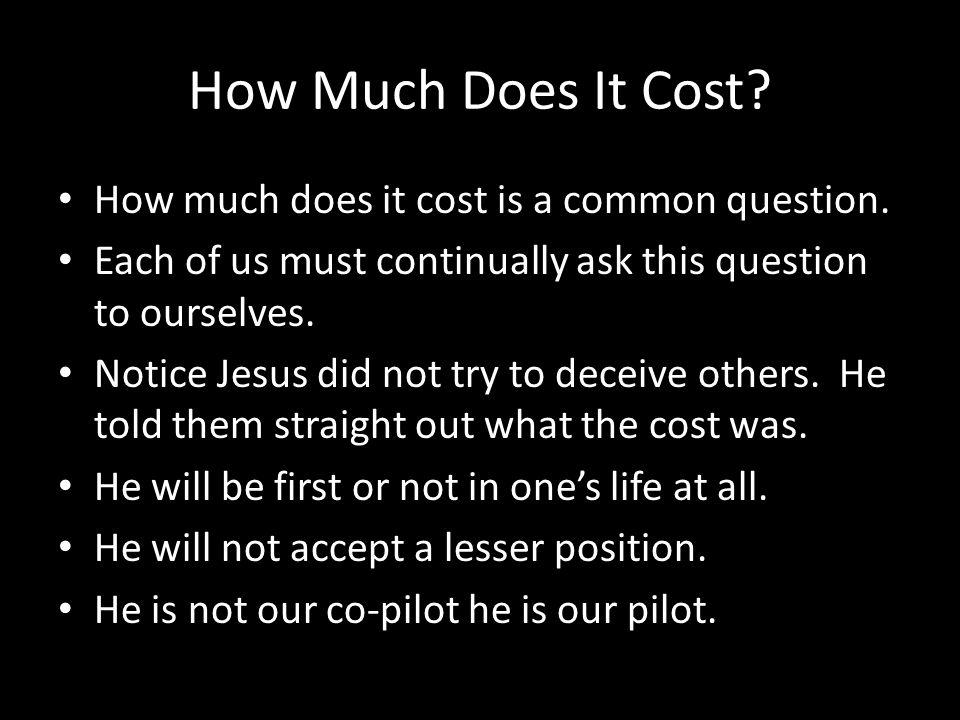 How Much Does It Cost. How much does it cost is a common question.