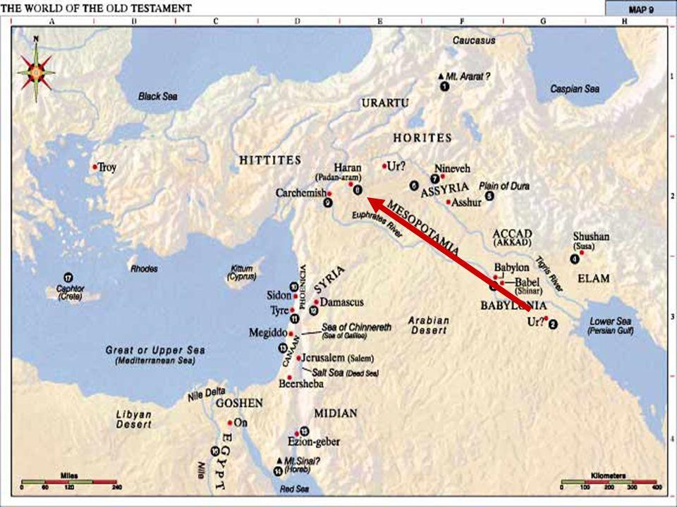 Timeline Birth of Abram (Abraham) in Ur 1813 B.C.Abram leaves Ur (75 yrs.
