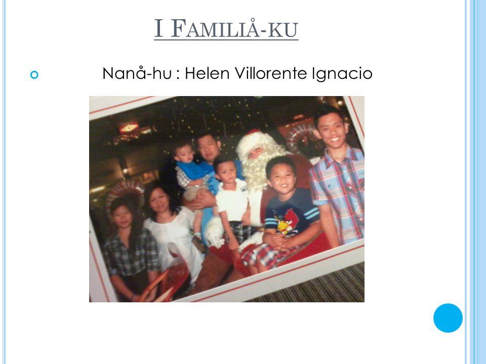 I F AMILIÅ - KU Nanå-hu : Helen Villorente Ignacio