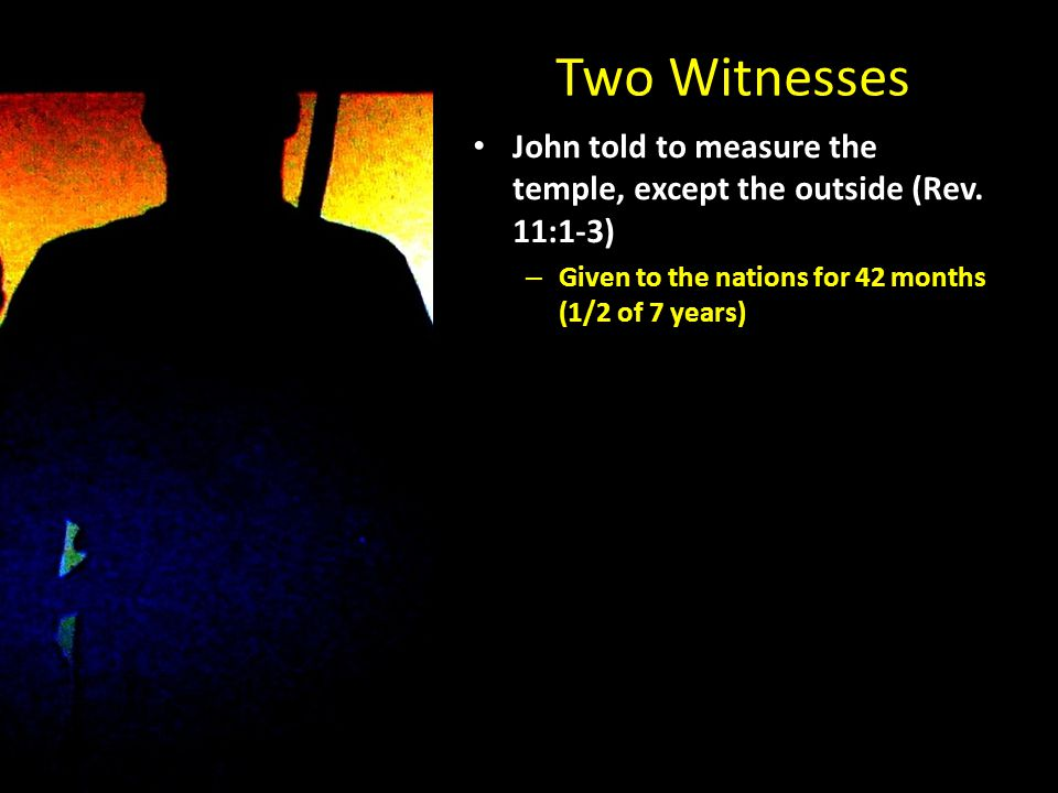 John told to measure the temple, except the outside (Rev.