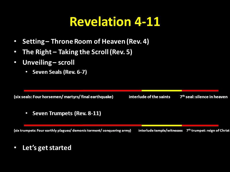 Revelation 4-11 Setting – Throne Room of Heaven (Rev.