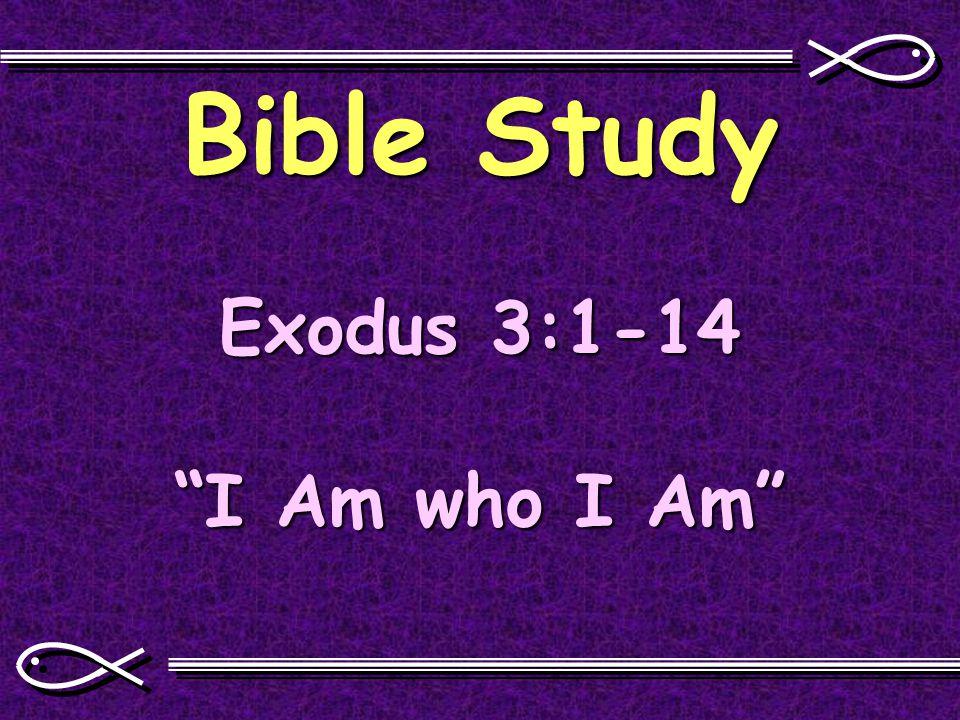 Bible Study Exodus 3:1-14 I Am who I Am