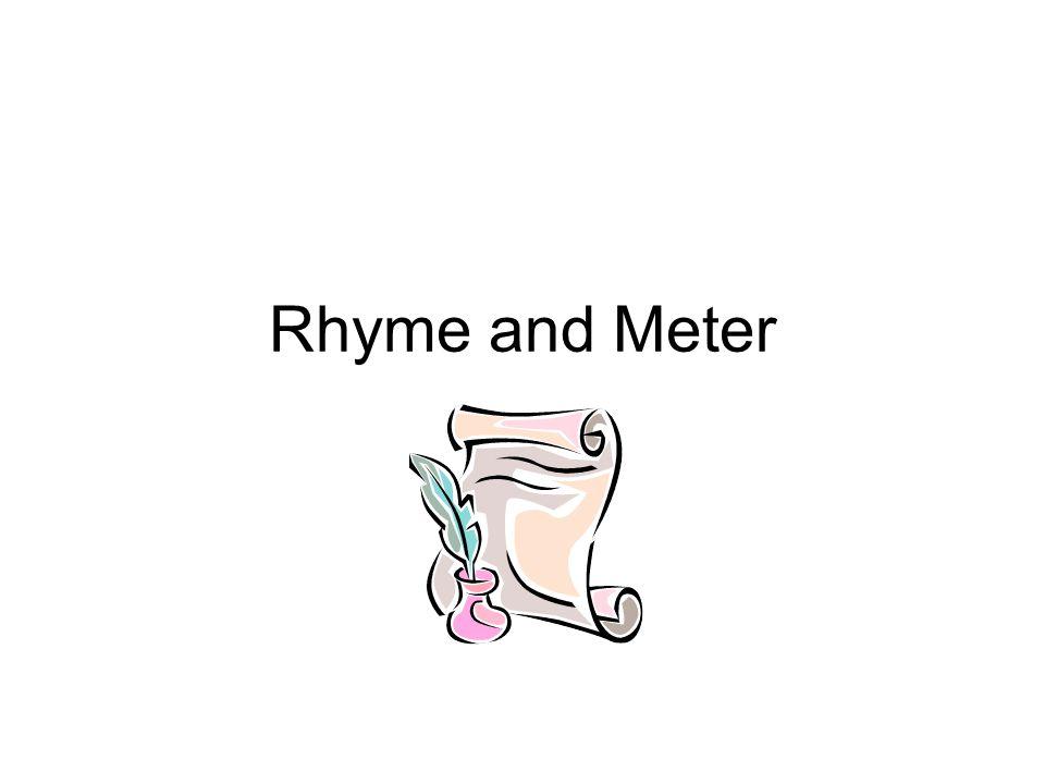 Rhyme and Meter