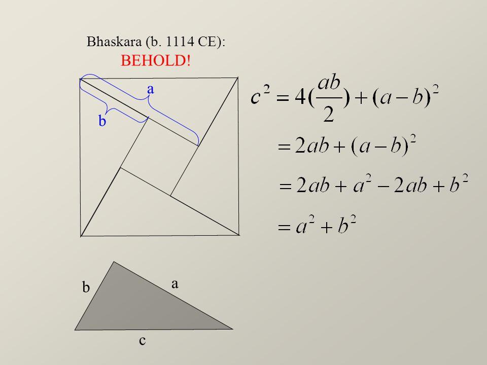 a b c Bhaskara (b. 1114 CE): BEHOLD! a b